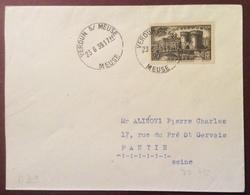 D39 Verdun Sur Meuse N°445 Premier Jour Porte Chaussée 23/6/1939 - France