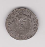 6 Kreuzer D'argent De Carl Ludwig Friedrich Grand Duc De Bade 1811-1818 - Petites Monnaies & Autres Subdivisions