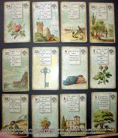ASTROLOGIE CARTES A JOUER DIVINATOIRES TAROT VOYANCE CARTOMANCIE 12 CARTES DEPAREILLEES ANCIENNES 1900 ? - Cartes à Jouer Classiques