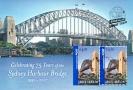 Australia 2007 Sydney Harbour Bridge 75 Years Minisheet CTO - SBERATEL - Used Stamps