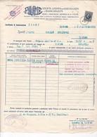 FIUME 1938 / CERTIFICAT D ASSURANCE POUR TRANSPORT FORI DI PAPAVERO / MARCA DA BOLLO 4 LIRES - Italy