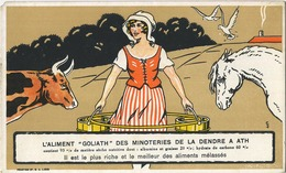ATH :  L'aliment ' GOLIATH '  Des Minoteries De La Dendre 20 X 12 Cm ( Regarder Scan Pour Detail -   Pas Utilisez) RARE - Buvards, Protège-cahiers Illustrés