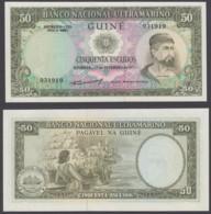 Portugese Guinea 50 Escudos 1971 UNC CRISP Banknote P-44 ### - Guinée