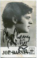 JOE DASSIN CP DEDICACÉE - Autografi