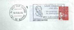Megras De Bry Sur Marne - Louis Daguerre - Co-inventeur De La Photographie - Enveloppe Entière - Marcophilie (Lettres)
