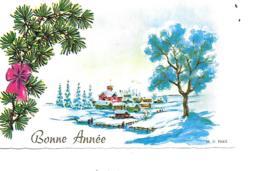 MIGNONNETTE BONNE ANNEE FORMAT 7X11 CM MD PARIS - Nouvel An