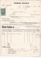 YOUGOSLAVIE / TROGIR 1939 / FACTURE DANIEL PETRIC / FLEURS DE PYRETHRE / INSECTICIDE .. / TIMBRE FISCAL 5 DINARS - Factures & Documents Commerciaux