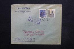 ESPAGNE - Enveloppe Commerciale De Santa Cruz De Tenerife Pour La Belgique En 1939 , Cachet De Censure - L 24904 - Republikanische Zensur