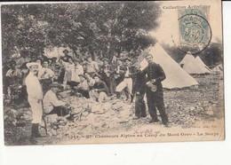 CPA 06 - Chasseurs Alpins Au Camp Du Mont Orso - La Soupe  : Achat Immédiat - Manoeuvres