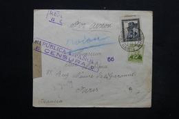 ESPAGNE - Enveloppe De Barcelone Pour Paris En 1938, Cachets De Censure , Bandes De Contrôle Postal - L 24907 - Republikanische Zensur