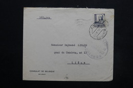ESPAGNE - Enveloppe Du Consulat De Belgique De Bilbao Pour La Belgique En 1938, Cachet De Censure - L 24910 - Republikanische Zensur