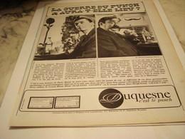 ANCIENNE PUBLICITE LA GUERRE DU PUNCH RHUM DUQUESNE  1965 - Alcools