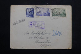 ESPAGNE - Enveloppe En Recommandé De Barcelone Pour Bruxelles - L 24912 - 1931-50 Briefe U. Dokumente
