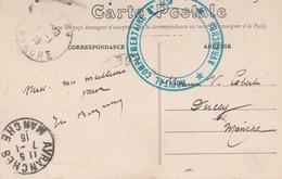 MARCOPHILIE Cachet Militaria Hôpital Complémentaire N° 82 AVRANCHES (cpa Rennes 24 Palais Justice Salle Pas Perdus) - Postmark Collection (Covers)