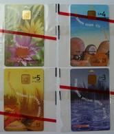 MALTA - Chip - Maltacom - Set Of 4 - Spring, Summer, Autumn & Winter - Mint Blister - Malta