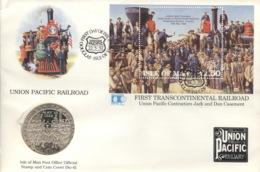 Isle Of Man Numisbrief Mit Block 17 FDC - Regionale Währungen