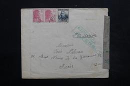 ESPAGNE - Enveloppe De Gerona Pour Paris En 1938 , Censure  - L 24914 - Republikanische Zensur