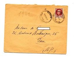 Lettre Cachet Bedous Sur Petain - Postmark Collection (Covers)