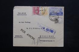 ESPAGNE - Enveloppe De Barcelone Pour L 'Allemagne En 1939 Avec Cachet De Censure  - L 24915 - Marcas De Censura Nacional