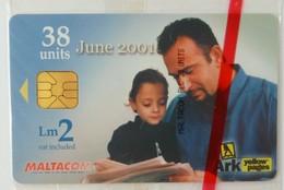 MALTA - Chip - Maltacom - 38 Units - Fathers Day - 2001 - Ark - Mint Blister - Malte