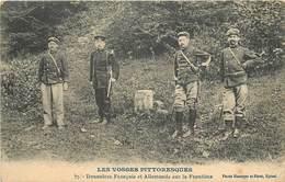 LES VOSGES PITTORESQUES - Douaniers Français Et Allemands Sur La Frontière. - Douane