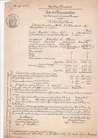 NANTES / 1891 / ACTE DE FRANCISATION BATEAU A VAPEUR NANTES LE HAVRE / - Documents Historiques