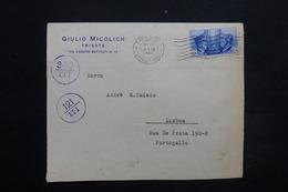 ITALIE - Enveloppe Commerciale De Trieste Pour Lisbonne En 1941 Par Avion , Cachet Et Bande De Contrôle - L 24917 - 1900-44 Vittorio Emanuele III