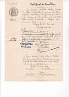 MARSEILLE 1901 / MEJEAN / DOUANES / CERTIFICAT DE DEMOLITION BATEAU JANETTE / CACHET NAVIGATION MARSEILLE - France