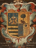 @@@ MAGNET - Spanish School, 18th Century, Coat-of-Arms Rey De Castilla  Armas D Cl Apellido Fuen  Tes D Aragon - Publicitaires