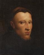 @@@ MAGNET - Spanish School, Circa 1700, Portrait Of A Monk - Publicitaires