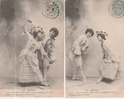 DANSE MENUET - LOT De 2 CARTES POSTALES En 1906 - Danses