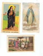 JM13.03 / 3 X IMAGES RELIGIEUSES ANCIENNES  ( Dont Ste GERTRUDE DE NIVELLES ) - Devotion Images