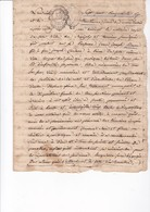 BARJOLS 1756 / TESTAMENT JEAN JOSEPH SIMON / TIMBRE SEC EXPEDITION 5 SOLS - Documentos Históricos