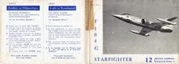 Pochette De 12 Cartes Postales - Toute La Force Aérienne Belge En 12 Photos Couleurs - +/- 1965    (4468) - Aviation