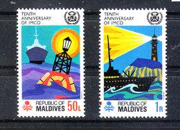 Maldive  - 1970. Fari. Headlights. Complete MNH Series - Fari