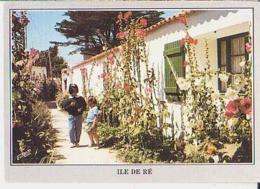 Île De Ré   H467       Ruelle Typique Bordée De Roses Trémières - Ile De Ré