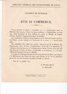 1877 / DIRECTION MANUFACTURES DE L ETAT / AVIS AU COMMERCE / CIGARES DE MANILLE - France