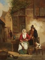 @@@ MAGNET - Willem Linnig The Elder, Girl Plucking A Goose - Publicitaires