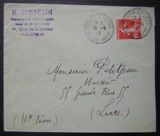 Rouen 1912 H. Josselin Huissier, Cachet Rouen Bourse - Postmark Collection (Covers)