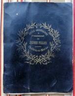 51 CHALONS SUR MARNE Cahier De Broderies, Dentelles Travail D Ecole Cours SAINT JEAN SUR MOIVRE - Documents Historiques
