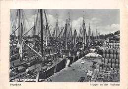 Allemagne - Basse-Saxe - VEGESACK - Logger An Der Fischerei - Bateaux - Timbre Hitler - Allemagne