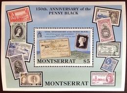Montserrat 1990 Penny Black Anniversary Minisheet MNH - Montserrat