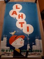 OUDE AFFICHE 1950-1965, CONTEMPARY FINLAND, LAHTI, 62x100cm - Affiches