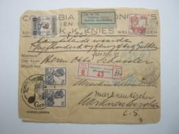 1925, Waarde  Brief ( Front Only !)  To Germany - Nederlands-Indië