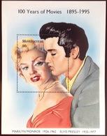 Montserrat 1995 Marilyn Monroe Elvis Minisheet MNH - Montserrat
