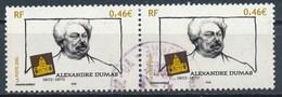 France - Alexandre Dumas YT 3536 Obl (paire Horizontale) - France