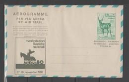 "SOMALIA - 1968 Aerogramma Gazzella 1,50Sh. Soprastampato X Verona ""80 Nuovo Perfetto - Somalia (1960-...)"