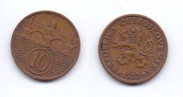 Czechoslovakia 10 Haleru 1937 - Czechoslovakia