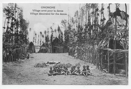 Ononghe- Village Decorated For The Dance - Papua New Guinea