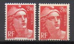 - FRANCE Variété 714b ** - 2 F. 40 Rouge Marianne De Gandon 1945 - F De 2 F. 40 ABSENT - Cote 28 EUR - - Abarten: 1945-49 Ungebraucht